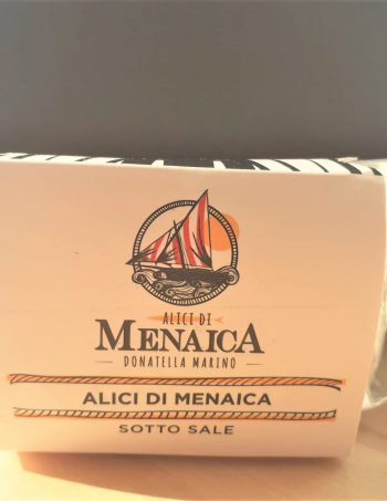 Alici di Menaica sotto sale Presidio Slow Food 500 gr.