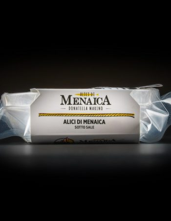 Alici di Menaica sotto sale Presidio Slow Food 250 gr.