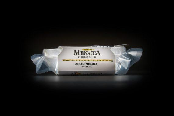 Alici di Menaica sotto sale Presidio Slow Food 250 gr.