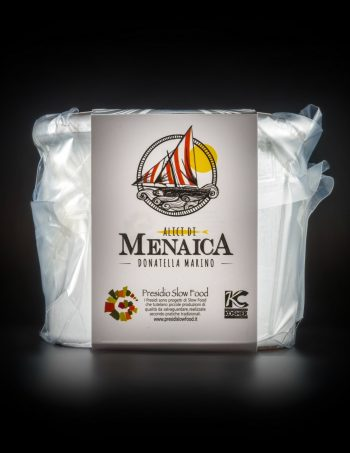 Alici di Menaica sotto sale Presidio Slow Food 1 Kg