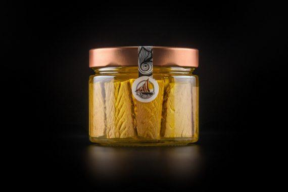 Tonnetto Alletterato in olio extravergine di oliva confezione in vetro da 250 gr.
