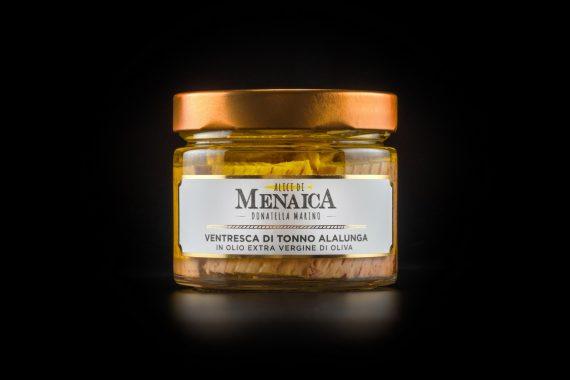 Ventresca di Tonno Alalunga in olio extravergine di oliva 250 gr. confezione in vetro