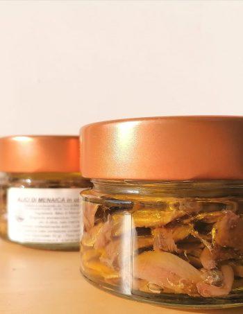Pezzi di Alici di Menaica Presidio Slow Food in olio di oliva 120 gr.