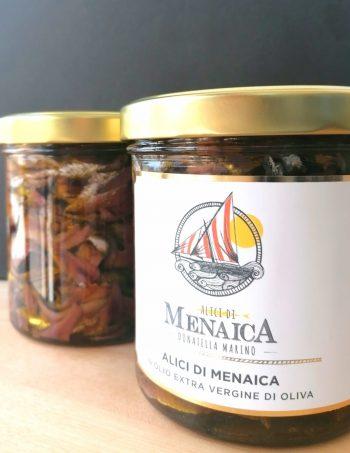 Alici di Menaica Presidio Slow Food in olio extravergine di oliva 800 gr.
