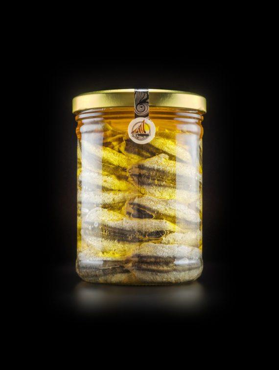 Alici di Menaica - Alici Marinate con peperoncino - confezione in vetro da 800 gr (1)